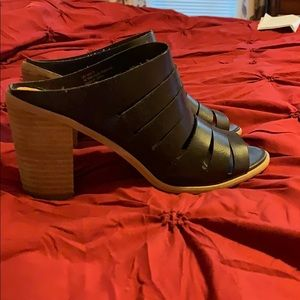 Lightly worn block heel